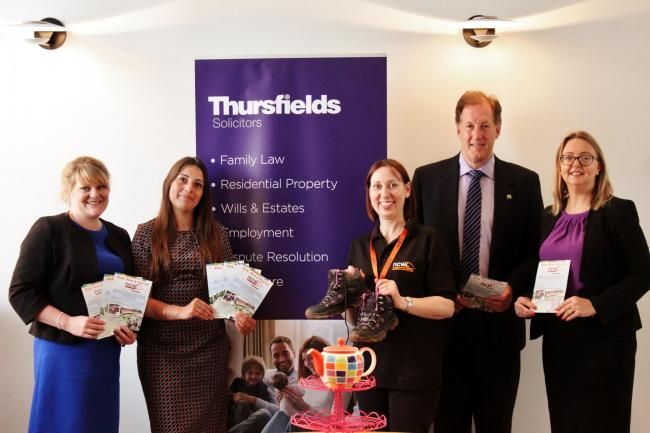 WALK: The team from Thursfields Solicitors launching their walk