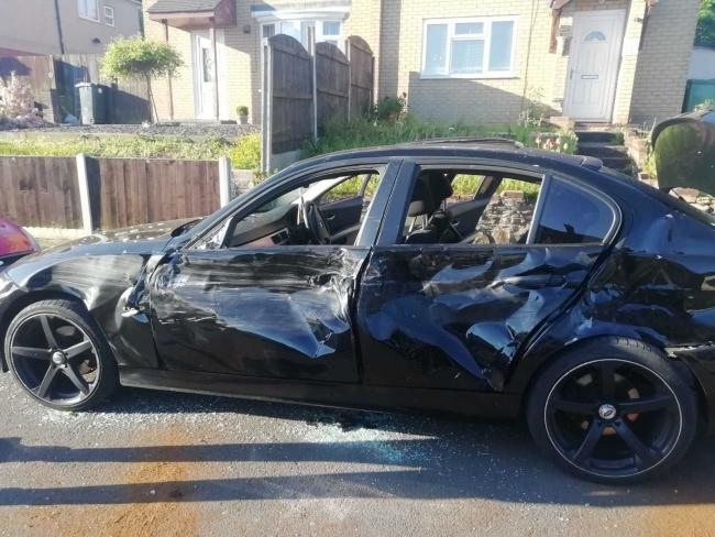 DAMAGE: The aftermath of a seven-car crash which happened in Worcester in May 2019