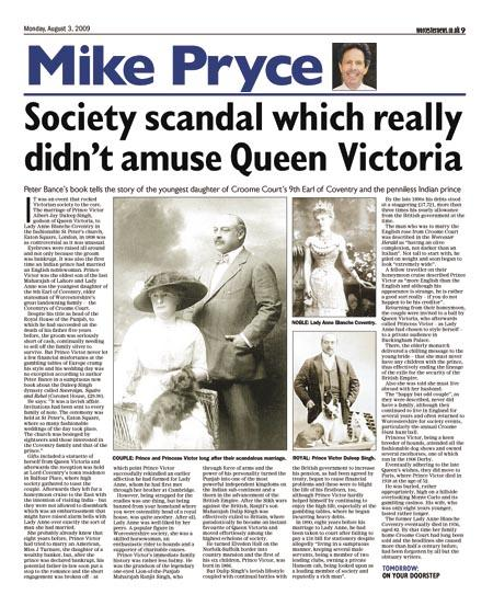 Society scandal which really didn't amuse Queen Victoria