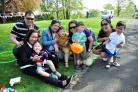 The Easter Eggstravaganza event, held at Fort Royal Park, Worcester, organised by the Friends of Fort Royal Park.......Families enjoy the fun at Fort Royal...Pic Jonathan Barry 22.4.19.