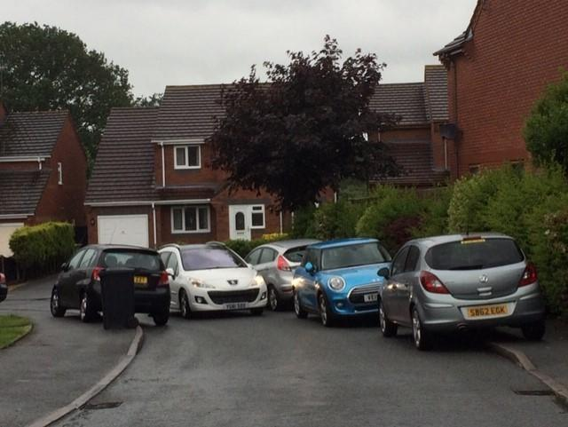 BLOCKED: Barbara Moss says people often park along Aconbury Close making it difficult for residents
