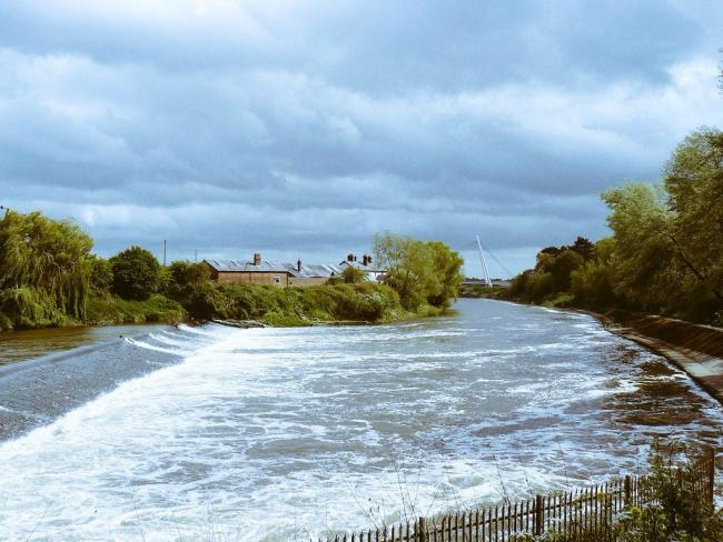 Diglis Weir by Liz Cowley.